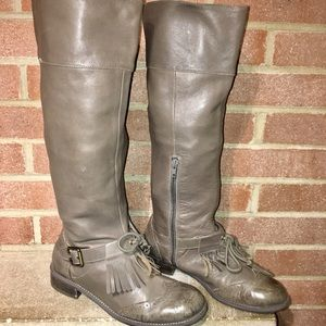 Anthropology Buckled oxford boots size 8.5 Gray